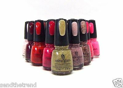 China Glaze Nail Polish Lacquer Assorted Colors Variety #742 to #1010 .5oz/14mL