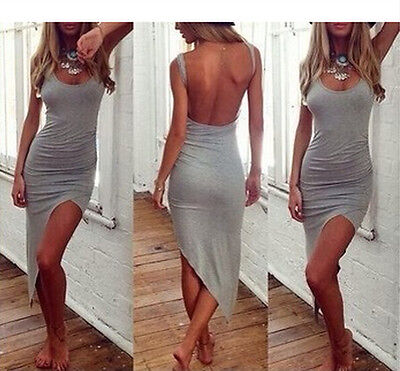 NEW Sexy Women Sleeveless Bandage Bodycon Evening Party Cocktail Long Maxi Dress