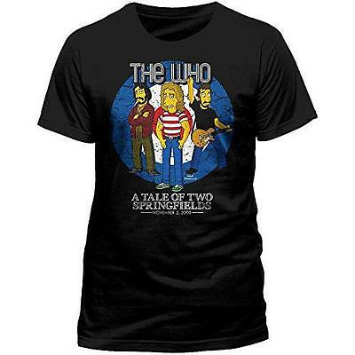The Who - The Simpsons Bullseye Mens T-Shirt - New & Official In Sealed Bag