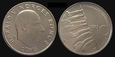 NORWAY 10 kroner 2013 Universal Suffrage UNC