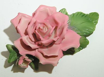 VINTAGE 1985 PAINTER'S CAPODIMONTE ROSE THE FRANKLIN MINT MADE IN ITALY