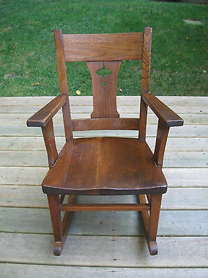 Antique Youth Childs Misson Oak Style Rocking Chair  Nice Condition