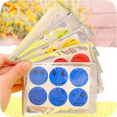 60 pcs Cute Smiley Insect Mosquito Repellent Stickers Patches Citronella Oil G41