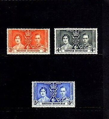 Br Honduras - 1937 - Coronation Issue - Mint - Mnh - Set Of 3!