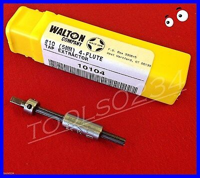New Walton 10104 #10 (5mm) Tap Extractor 4 - Flute Free Shipping  USA MADE