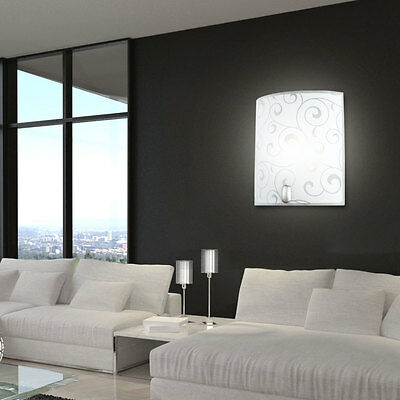 wand lampe schlaf wohn zimmer flur dielen leuchte b ro treppen licht effekt glas eur 44 99. Black Bedroom Furniture Sets. Home Design Ideas