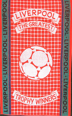 Liverpool - Football Trophy Winners 100% Cotton Sports Terry Bath Towel