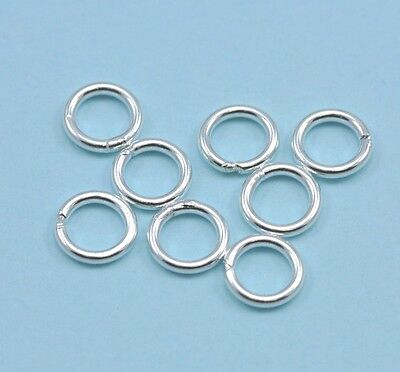 Solid 925 Sterling Silver Soldered Closed Jump Rings Jewellery Making Findings