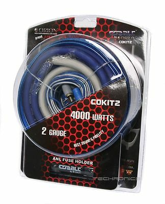 Orion Cokit2 Car Audio 2 Gauge Amplifier Installation Wiring Cobalt Cable Kit