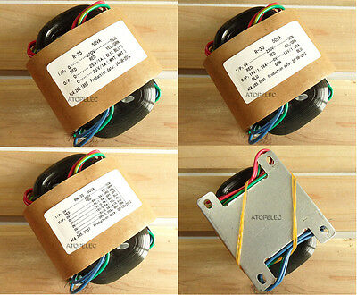220V 50W R-Core Transformer for Audio Amplifier DAC - Selectable Outputs