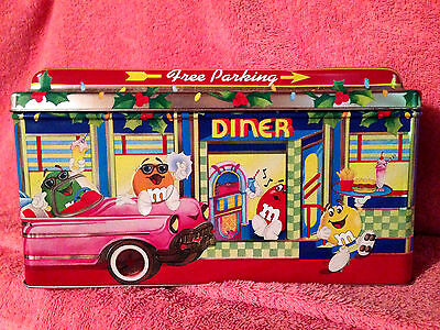 M&M LIMITED EDITION CANISTER 1996  M&M DINER #4 CHRISTMAS VILLAGE SERIES