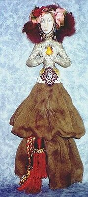 """*new* Cloth Art Doll Pattern """"simple Pleasures"""" By Christine Shively"""