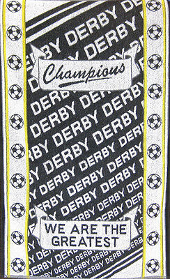 Derby - Football We Are The Greatest 100% Cotton Sports Terry Bath Towel