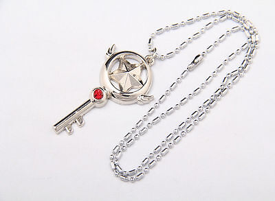 2x Japan Anime Card Captor Sakura Figure Cosplay Magic Pendant Necklace Chain