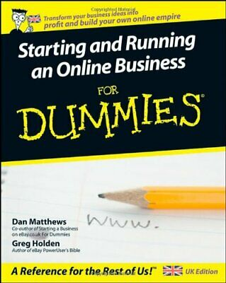 Starting and Running an Online Business For Dummies (..., Holden, Greg Paperback