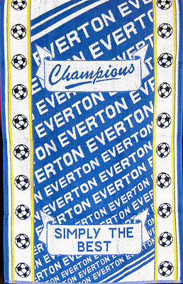 Everton - Football Simply The Best 100% Cotton Blue Sports Terry Bath Towel