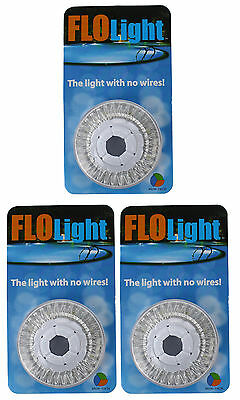 3) LED Swimming Above Inground Pool Flo Lights Wireless Universal Return 3 Pack