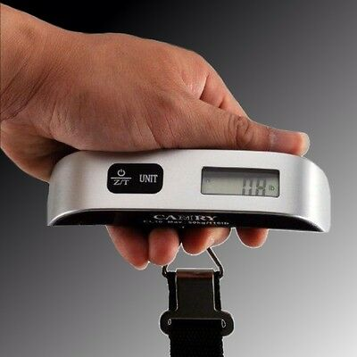 Camry 110 lbs Digital EL10 Luggage Scale with Temp Sensor and Tare Function NIP