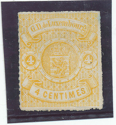 Luxembourg 1865  4c yellow Sc # 15  /  MI nr 14 - / MNG  / VF