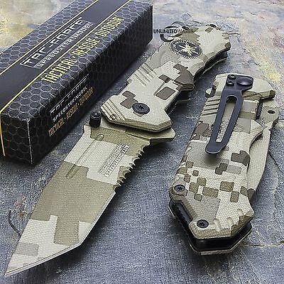 "8"" TANTO SPECIAL FORCES SPRING ASSISTED TACTICAL FOLDING KNIFE Pocket Blade"