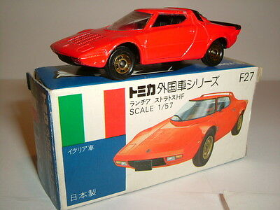 VINTAGE TOMICA LANCIA STRATOS HF DIECAST CAR MADE IN JAPAN 1970'S