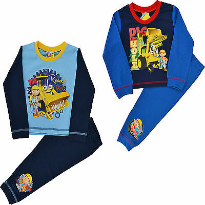 Boys Bob The Builder Snuggle Fit  Long Pyjamas Ages 12 Months to 4 Years