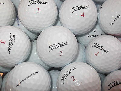 24 Titleist Golf Balls Nxt. Tour. Solo. Distance  Pearl / Grade A Lake Balls