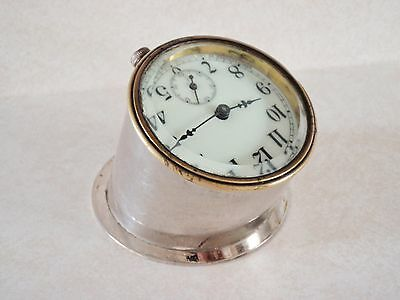 SWEET!! Antique SESSIONS Auto Clock PORCELAIN Dial BOAT CLOCK Hand Wind