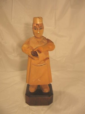 Anri Heart Surgeon Carved Wood Figure Made In Italy Wooden Figurine 7 in Tall