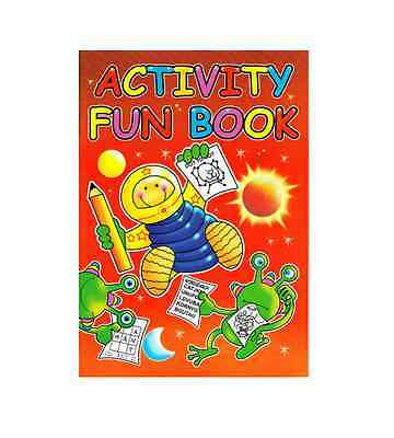 Childrens Activity Fun Puzzle Book Mazes Dot to Dot Wordsearch A4 Red 3205