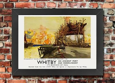 TX413 Vintage British Yorkshire Coast Whitby LNER Railway Travel Poster A2//A3//A4