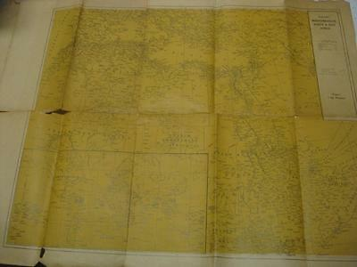 UNRECORDED WWII WAR MAP of Mediterranean, North and East Africa BRITISH ARMY