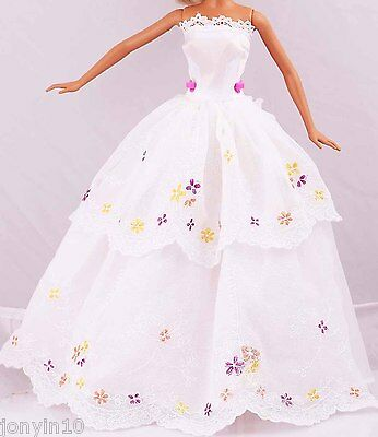 Beautiful Fashion Handmade Barbie Party Clothes/Dress/Gown For Barbie Doll n89