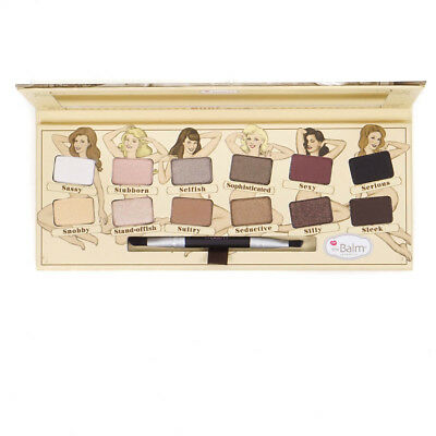 The Balm Nude Tude Eyeshadow Palette Set 12 Colours - Brush - Mirror - Primer