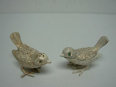 PAIR OF VINTAGE FLORENZA SPARROW BIRDS SACCHARINE HOLDER w TONGS & SHAKER