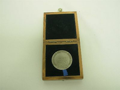 1979 Israel Egypt Peace Treaty State Sterling Silver Medal ~ With Wood Case