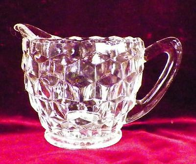 Cube Cubist Depression Glass Creamer Jeannette Clear Vintage Serving