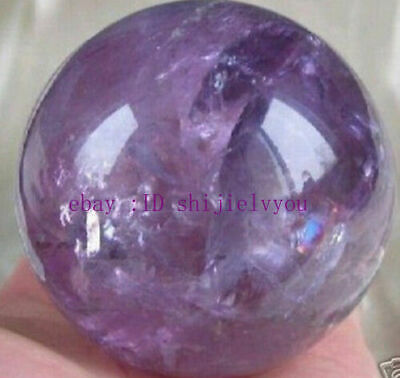 AAAAA+ RARE Natural AMETHYST QUARTZ CRYSTAL SPHERE BALL 60MM + STAND