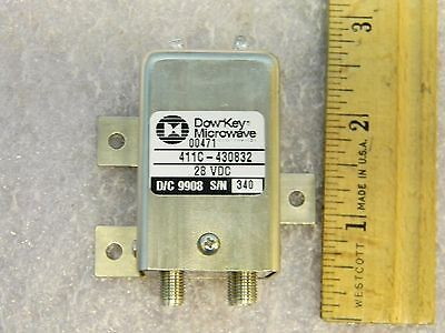 1 NEW DowKey  411C-430832 SMA Latching RF DPDT Microwave Transfer Switch DC-18GH