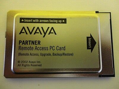 Avaya Partner Remote Access Upgrade Backup Restore PC Card CWD3 108505298 Used