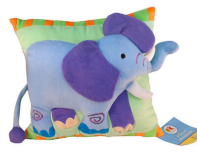 Wild Animals Elephant Plush Pillow by Olive Kids New