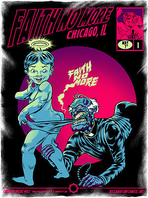 FAITH NO MORE poster Chicago 2015 by Zombie Yeti