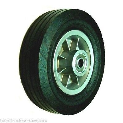 "Heavy Duty Solid Rubber 450# Capacity 8"" x 2-1/2"" Offset Hub Wheel with 3/4"" ID"