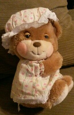Vintage Fisher Price Plush Teddy Beddy BETSY Girl Bear Stuffed Animal Hat