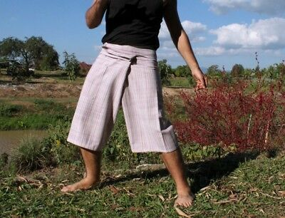 Natural Cotton Fisherman Pants Great Quality For Every Day - Pink Tones sz M