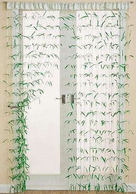 Bamboo Effect Summer String Curtain Decoration For Doors & Windows ~ 90 x 200cm