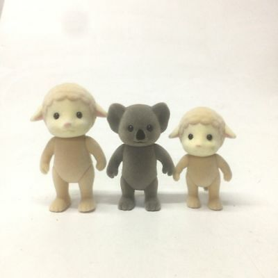 3x Sylvanian Families sheep Family Animal Figure baby Girl 3'' Doll Toys M621