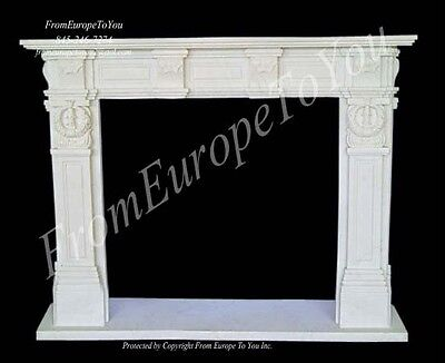 Hand Carved Marble Classical Fireplace Mantel Tle37
