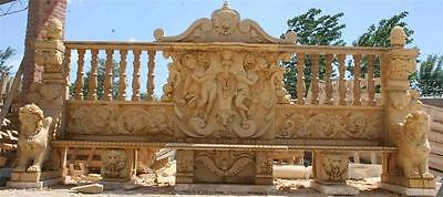 The Best Hand Carved Marble Lion Garden Estate Bench