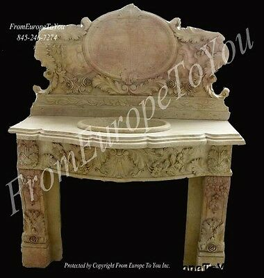 Nice Hand Carved Marble Victorian Style Sinks